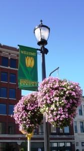 Flower baskets bloom in downtown Kokomo in 2008
