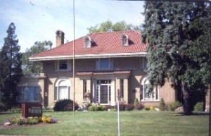 The Elwood Haynes Museum is located on the edge of Highland Park in Kokomo