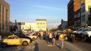 People enjoy the Volkswagen Cruise-in on a wonderful Fall evening