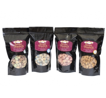Sweet Poppin's gourmet flavored popcorn