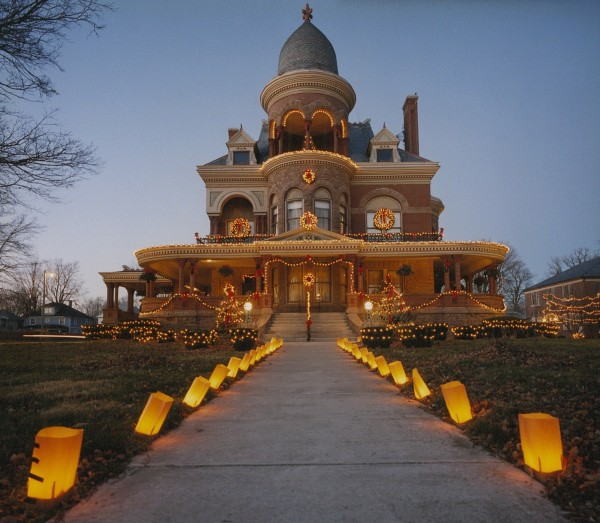 Christmas at the Seiberling Mansion