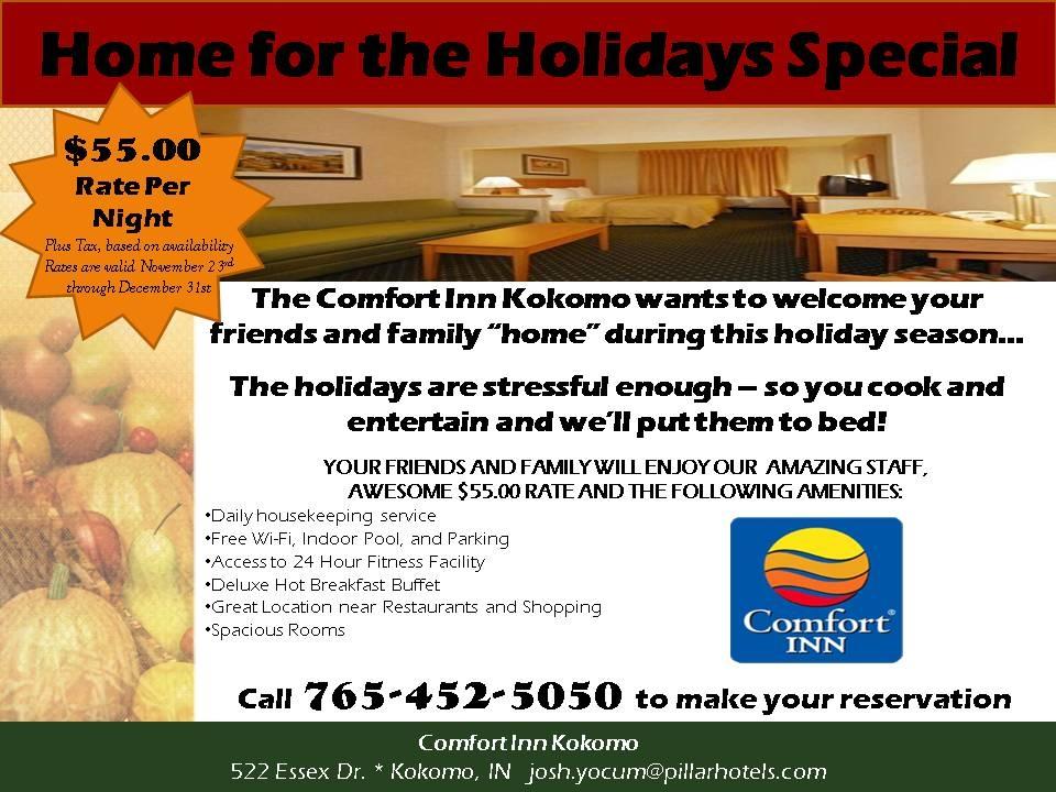 Comfort Inn Kokomo Offers Special 2013 Holiday Rates | Visit Kokomo Blog