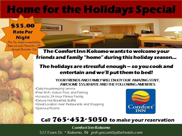 Comfort Inn Kokmo 2013 Holiday Special