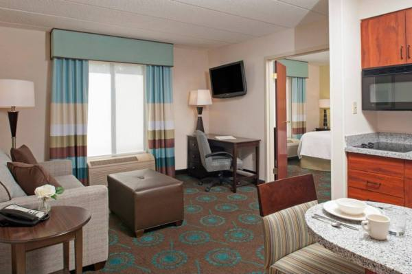 Hampton Inn & Suites Kokomo King Suite with fully equipped kitchen