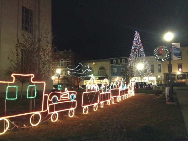 Holiday light display in Downtown Kokomo