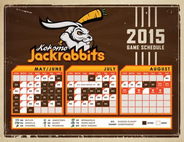Kokomo Jackrabbits 2015 Schedule
