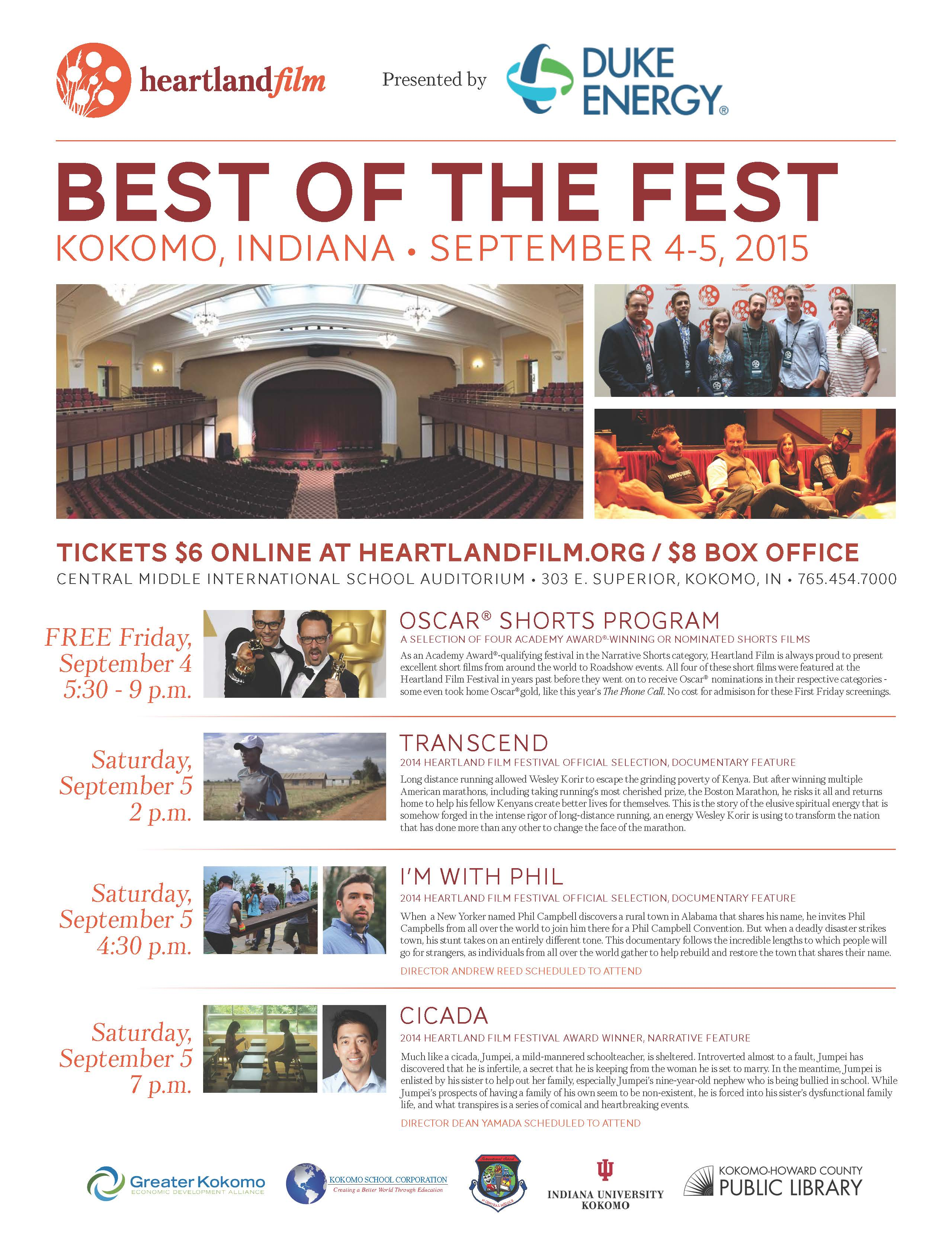 Heartland Best of the Fest flyer