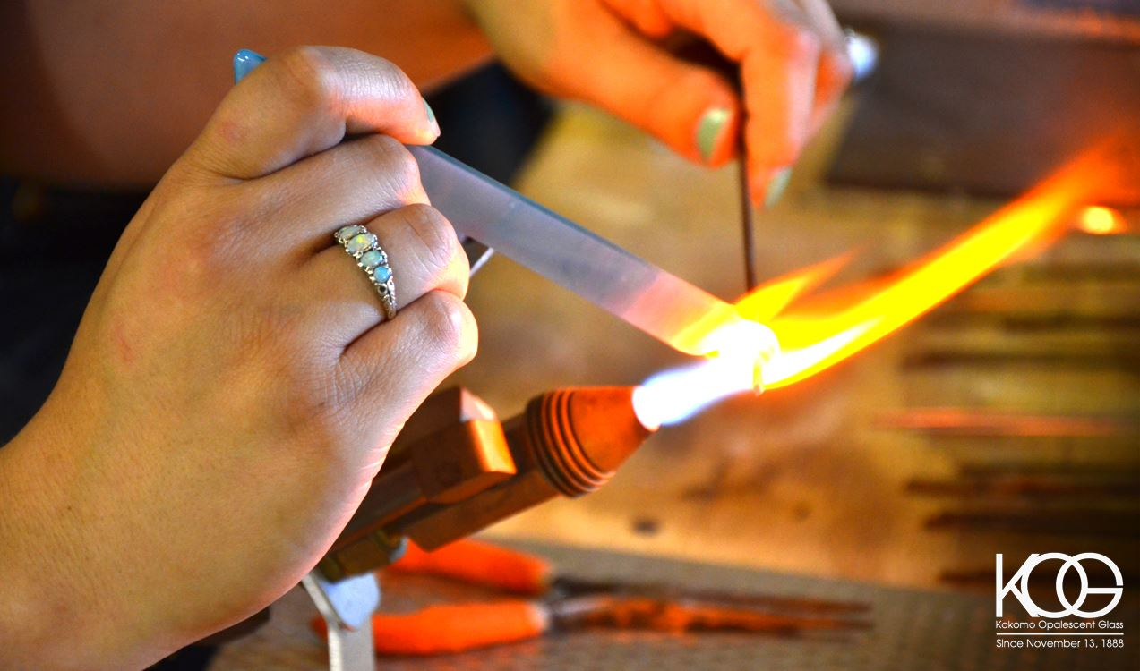 Experience art on fire at Kokomo Opalescent Glass, America's oldest art glass company.